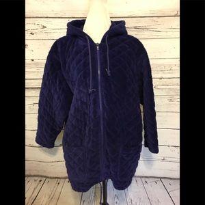 Blue Quilted Corduroy Jacket